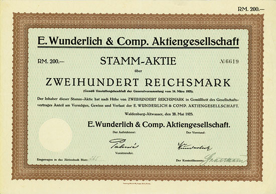 E. Wunderlich & Comp. AG