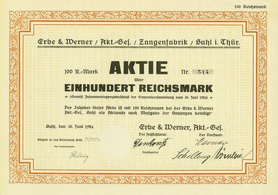 Erbe & Werner AG Zangenfabrik