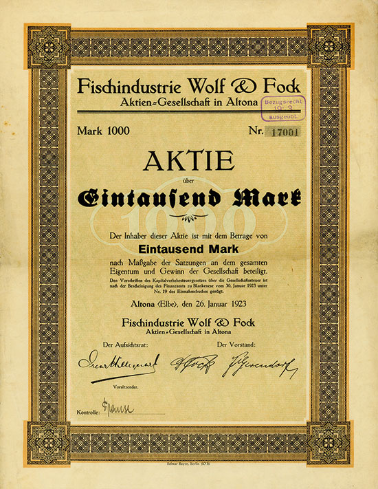 Fischindustrie Wolf & Fock AG