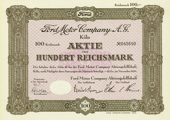 Ford Motor Company A. G.