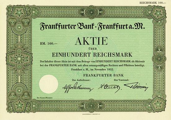 Frankfurter Bank [4 Stück]
