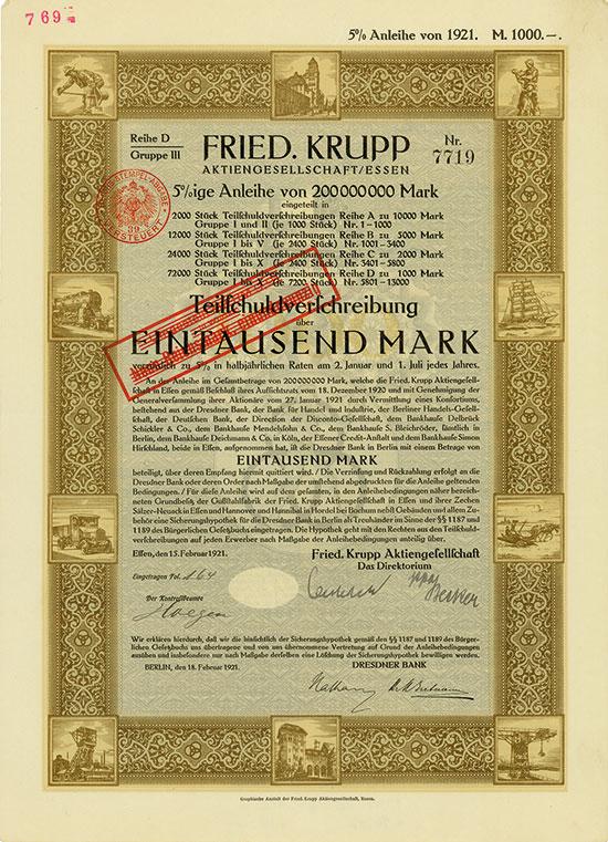 Fried. Krupp AG [2 Stück]