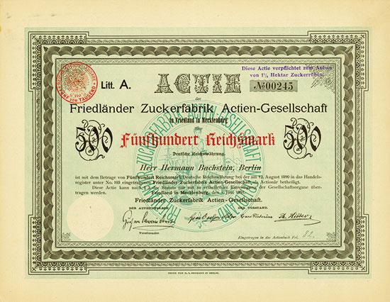 Friedländer Zuckerfabrik AG
