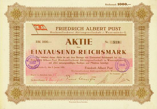 Friedrich Albert Pust Hochseefischerei AG