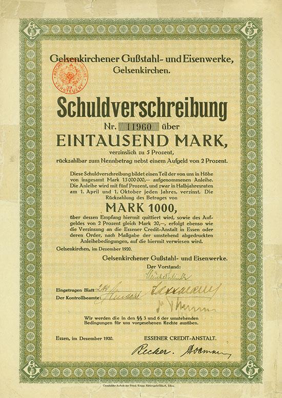 Gelsenkirchener Gußstahl- und Eisenwerke