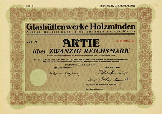 Glashüttenwerke Holzminden AG
