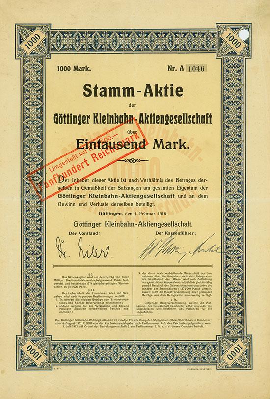 Göttinger Kleinbahn-AG
