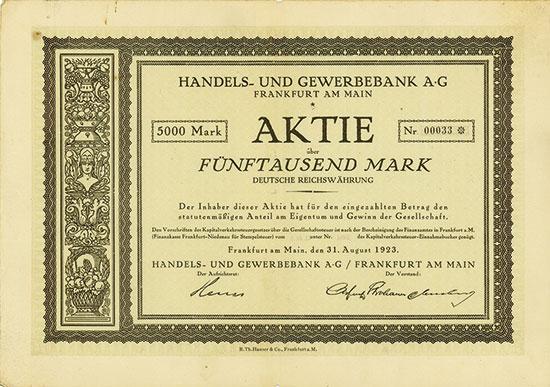 Handels- und Gewerbebank AG