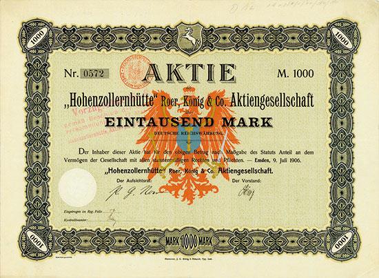 Hohenzollernhütte Roer, König & Co. AG