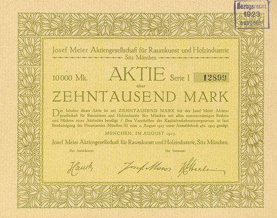 Josef Meier AG für Raumkunst und Holzindustrie