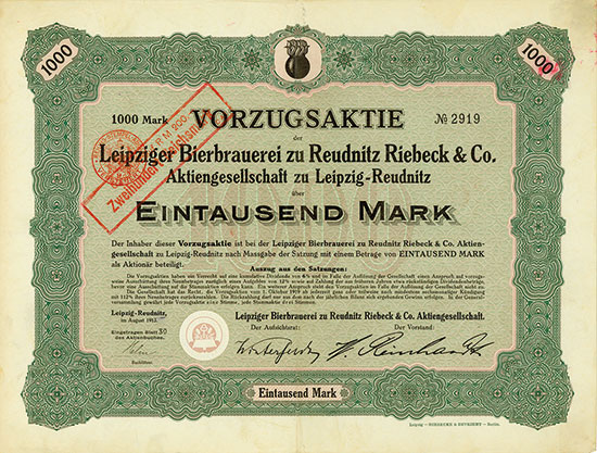 Leipziger Bierbrauerei zu Reudnitz Riebeck & Co. AG