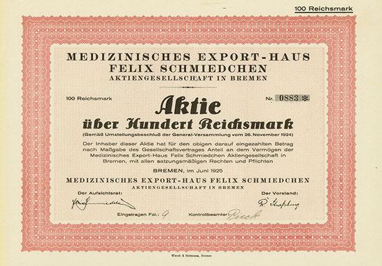 Medizinisches Export-Haus Felix Schmiedchen AG