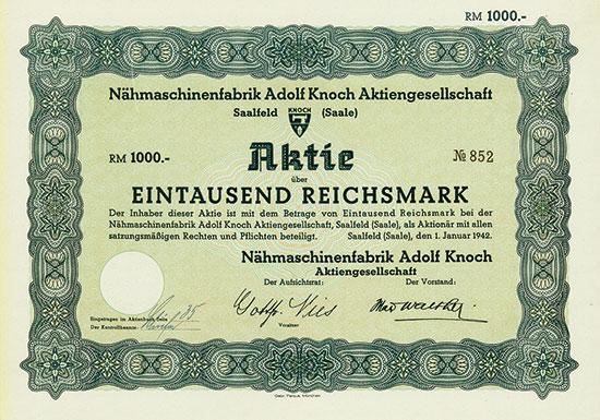 Nähmaschinenfabrik Adolf Knoch AG