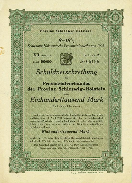 Provinz Schleswig-Holstein