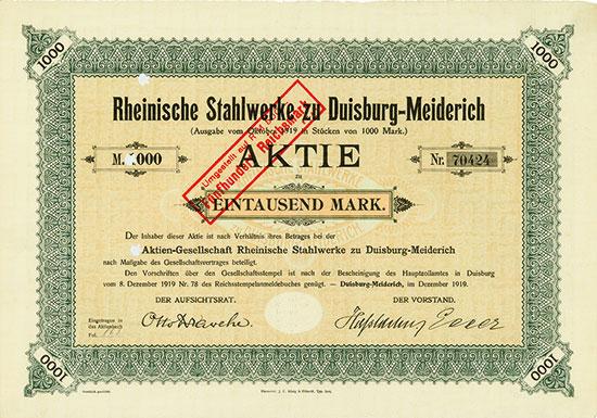 Rheinische Stahlwerke zu Duisburg-Meiderich