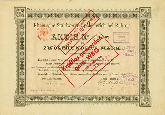 Rheinische Stahlwerke zu Meiderich bei Ruhrort