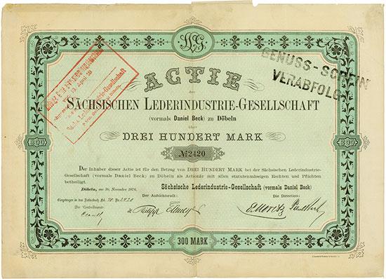 Sächsische Lederindustrie-Gesellschaft (vormals Daniel Beck)