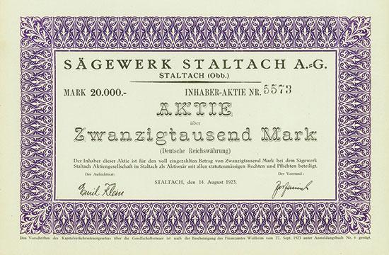 Sägewerk Staltach AG