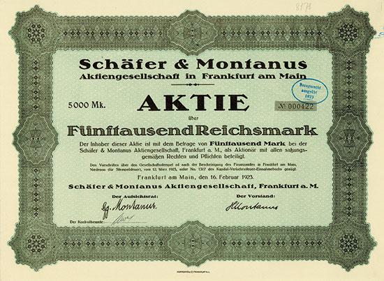 Schäfer & Montanus AG