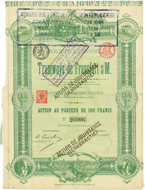 Société Anonyme des Tramways de Francfort s/M.