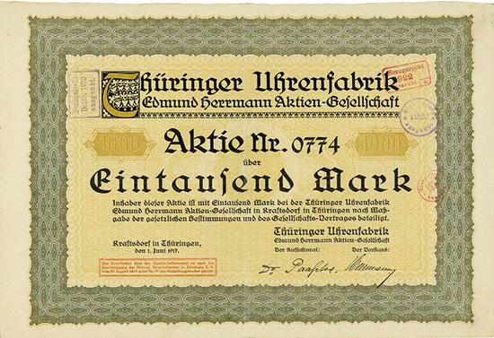 Thüringer Uhrenfabrik Edmund Herrmann AG