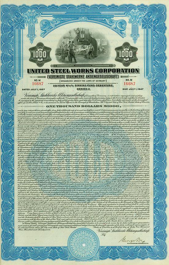 United Steel Works Corporation / Vereinigte Stahlwerke AG [7 Stück]