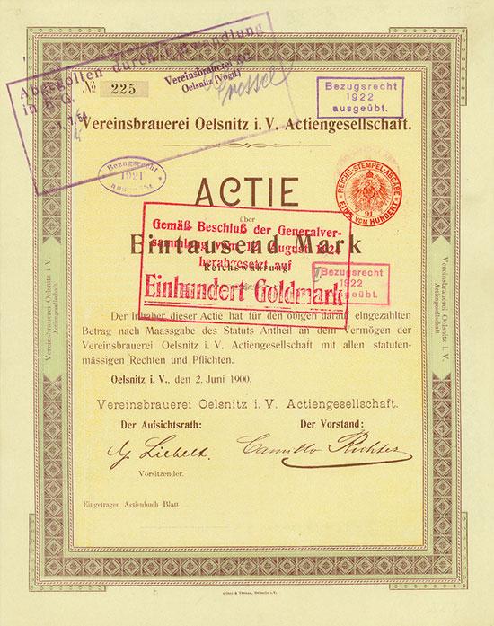 Vereinsbrauerei Oelsnitz i.V. AG