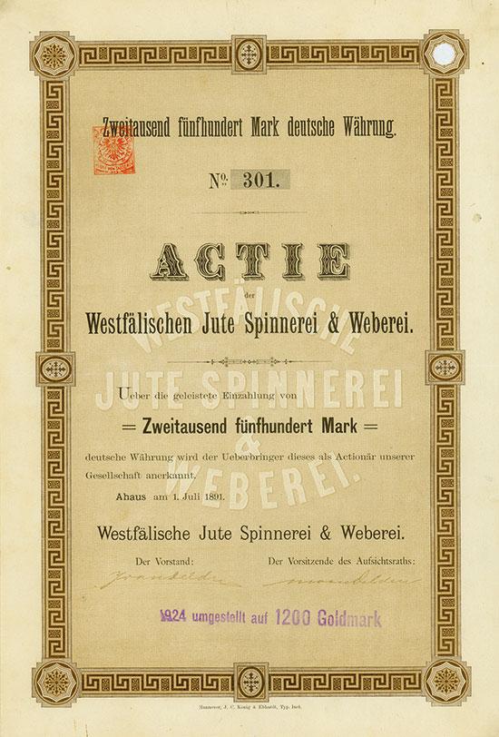 Westfälische Jute Spinnerei & Weberei
