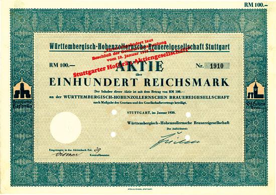 Württembergisch-Hohenzollernsche Brauereigesellschaft