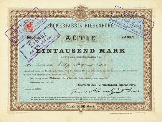 Zuckerfabrik Riesenburg