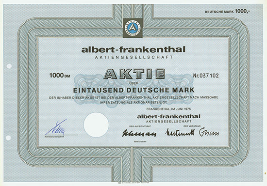 albert-frankenthal AG