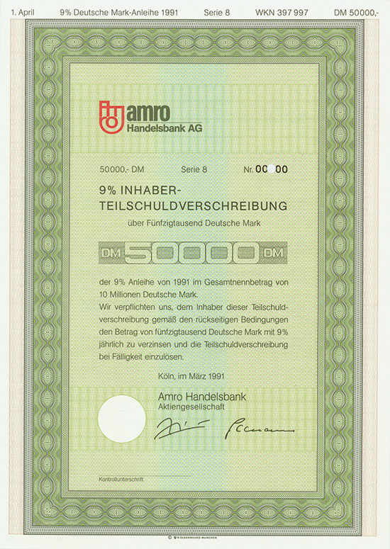 Amro Handelsbank AG [3 Stück]