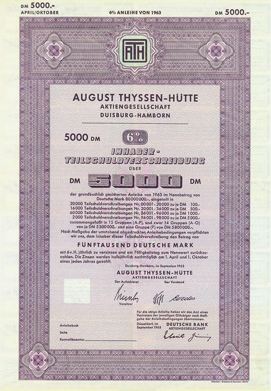 August Thyssen-Hütte AG [3 Stück]