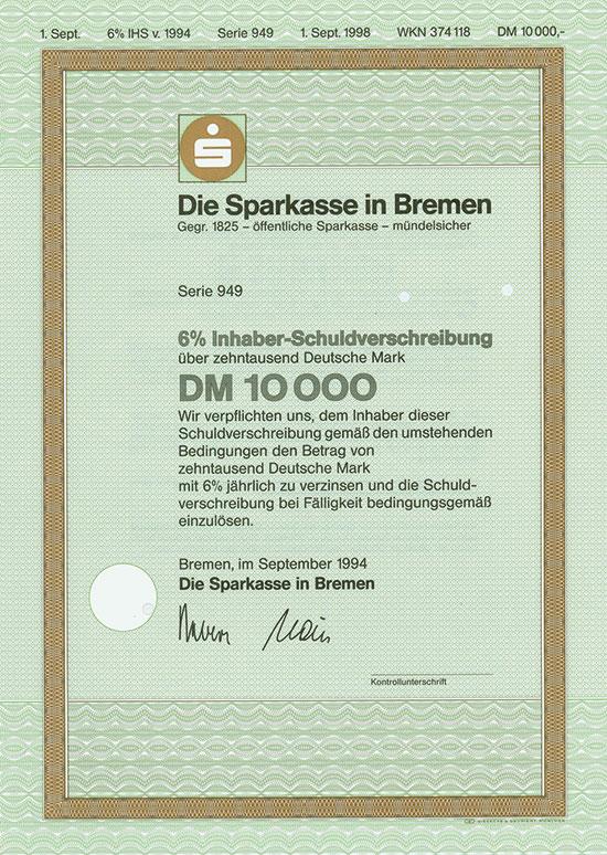 Die Sparkasse in Bremen [3 Stück]