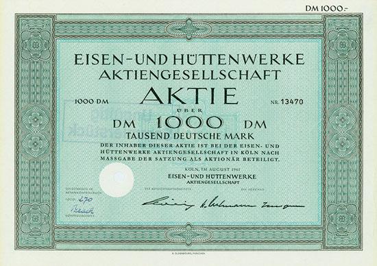 Eisen- und Hüttenwerke AG [3 Stück]