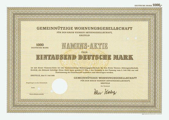 Gemeinnützige Wohnungsbaugesellschaft für den Landkreis Kempen-Krefeld, AG