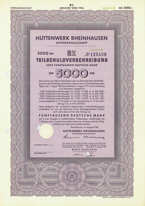 Hüttenwerk Rheinhausen AG