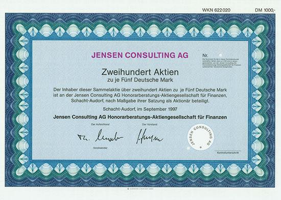 Jensen Consulting AG Honorarberatungs-Aktiengesellschaft für Finanzen
