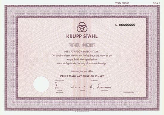 Krupp Stahl AG [3 Stück]