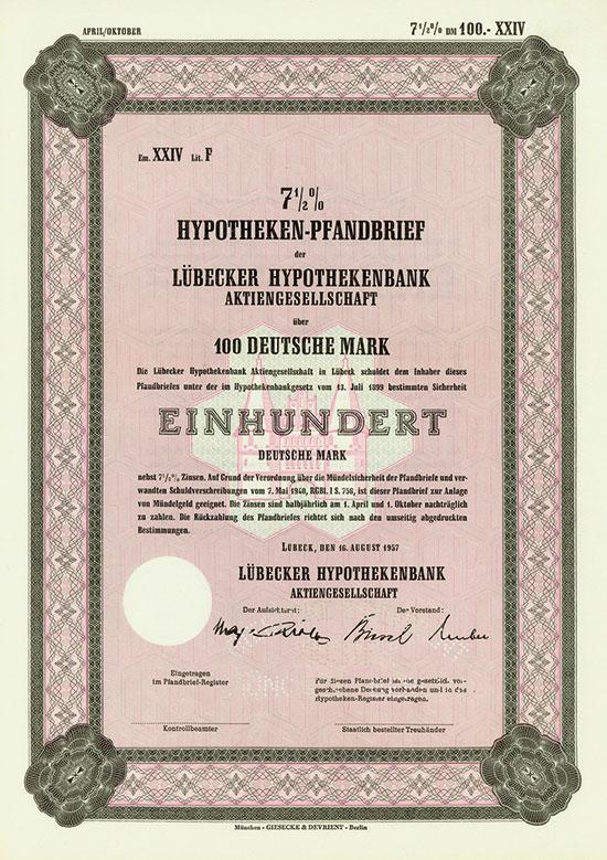 Lübecker Hypothekenbank AG [4 Stück]
