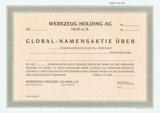 Werkzeug Holding AG Horb a. N.