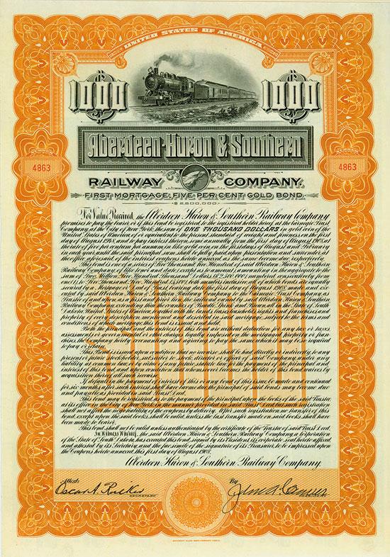 Aberdeen-Huron & Southern Railway Company