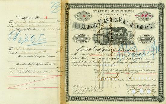 Alabama and Vicksburg Railway Company