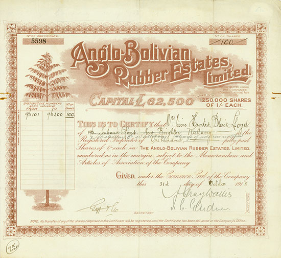 Anglo-Bolivian Rubber Estates, Limited