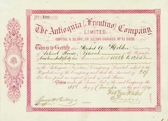 Antioquia (Frontino) Company, Limited