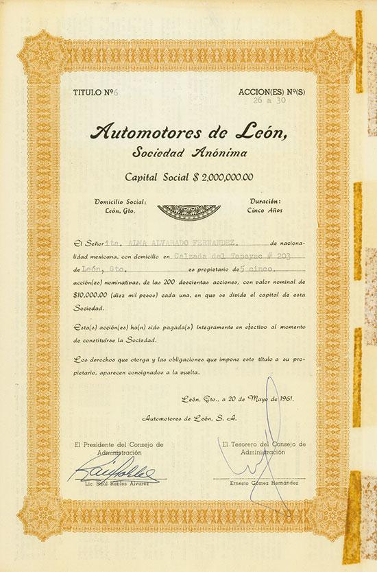 Automotores de León Sociedad Anónima