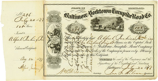 Baltimore & Yorktown Turnpike Road Co.