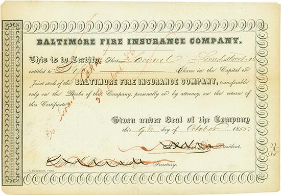 Baltimore Fire Insurance Company