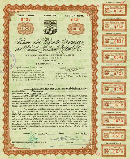 Banco del Pequeño Comercio del Distrito Federal S. A. de C. V.