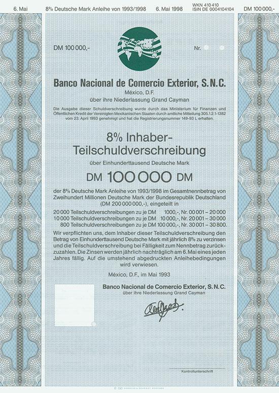 Banco Nacional de Comercio Exterior, S. N. C. [3 Stück]
